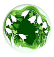 paper cut craft style spring flowers composition vector image vector image