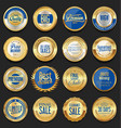 retro golden badge collection 2 vector image vector image