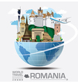 Romania Landmark Global Travel And Journey vector image vector image