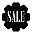 Sale icon simple style vector image