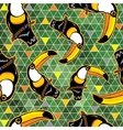 Seamless exotic brazil toucan bird background vector image vector image
