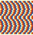 seamless wave pattern horizontal vector image vector image
