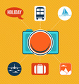 Set of flat design concept icons for holiday and vector image