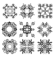 Set of Ornaments black white cards with mandalas vector image