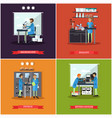set of research laboratories posters vector image vector image
