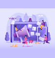 social media digital marketing campaign in flat vector image