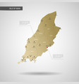 stylized isle of man map vector image vector image