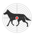 target for shooting gallery with wild wolf vector image vector image