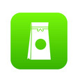 tea packed in a paper bag icon digital green vector image