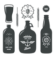 vintage craft beer brewery bottles label sign vector image vector image