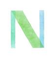 watercolor aquarelle font type handwritten hand vector image vector image