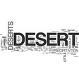 what is a desert text word cloud concept vector image vector image