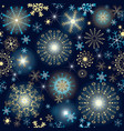 winter dark blue seamless pattern vector image vector image