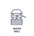 water well line icon outline sign linear symbol vector image
