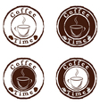 coffee time stamps set vector image