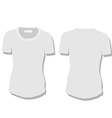 White woman t-shirt vector image