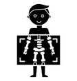 x ray - medical diagnostics man icon vector image
