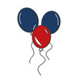 balloons air party independence day vector image