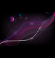 abstract background space with lines and vector image vector image