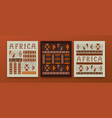 africa culture ethnic tribal art african card set