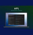 apl programming language vector image vector image