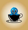 bird logo coffee vector image