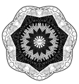 Black and white mandala inscription love vector image vector image