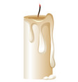 candle with no light on black background vector image vector image