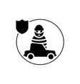 car insurance robbery icon isolated vector image vector image