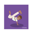 cartoon of capoeira martial arts with standing vector image vector image
