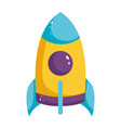 cartoon rocket toy kids isolated icon design white vector image vector image
