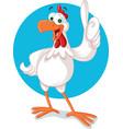 chicken mascot character vector image
