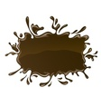 Chocolate splash with drops vector image vector image