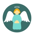 Christmas angel icon flat vector image