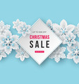 christmas sale banner with decorative snowflakes vector image vector image