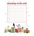 christmas to do list candy cane frame with cute vector image vector image