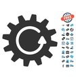 Cogwheel Rotation Icon With Free Bonus vector image vector image