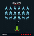 colorful poster of new game insert coin with vector image vector image