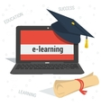 concept e-learning education vector image vector image