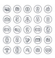currency financial operations forex line icons vector image