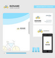 cycle business logo file cover visiting card and vector image vector image