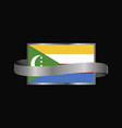 democratic republic of the congo flag ribbon vector image