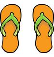 doodle flip flops vector image