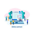 e-contract online contract vector image