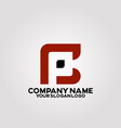 elegant square logo letter c and p vector image