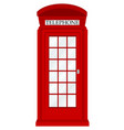 england telephone booth on a white background vector image