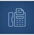 Fax machine line icon vector image vector image