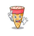 finger ice cream tone mascot cartoon vector image vector image