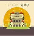 flat castle vector image