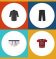 flat icon clothes set of t-shirt uniform vector image vector image